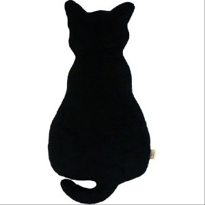 クッション Alice(アリス) ネコ型シルエットクッション 約23×46×10センチ ぬいぐるみ キャラクター 動物|makura