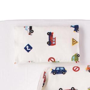 枕カバー 子供用 くるまパーク 枕カバー 約 20×30センチダブルガーゼ|makura