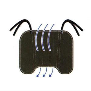 床ずれ予防マット 車いす用 通気ビーズ 背中クッション2 床ずれ防止マット|makura