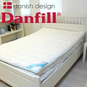 ベッドパッド セミダブル Danfill ダンフィル エンジェルブルー マットレスパッド 200×120センチ|makura