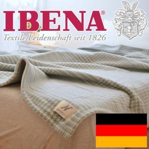 毛布 シングルサイズ | IBENA(イベナ) 千鳥格子柄 ウール混毛布 約150×200センチ|makura
