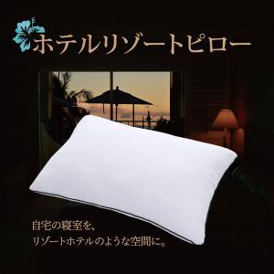 枕 まくら ピロー 洗える枕 ホテル仕様 43×63cm 2層式 快眠枕 ホテルリゾートピロー