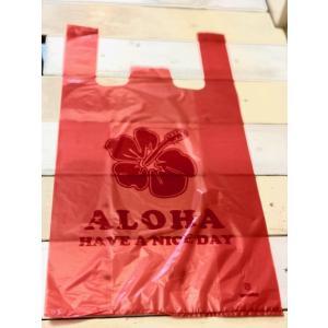 ALOHA柄レジ袋(L)100枚(クリックポストにて配送)|malasada