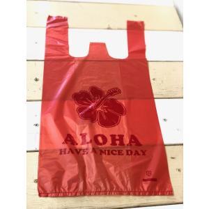 ALOHA柄レジ袋(S)100枚(クリックポストにて配送)|malasada