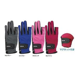マレットゴルフ 用品 ストレッチ手袋 ハタチ 磁石付 指切  |malletpro