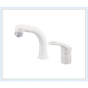 ■KVK洗面用シングルレバー式洗髪シャワー水栓(引出式) KM8007 送料無料■|malukoh
