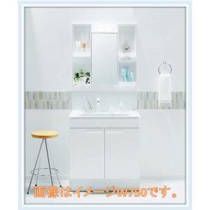 TOTO洗面化粧台VシリーズW600サイズエコシングル水栓+ミラーキャビネットLED照明(LDPB0...
