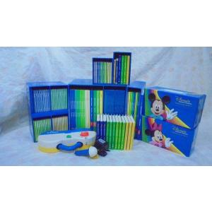 dfg4175   お勧め!お買い得です DWEディズニー英語システムワールドファミリー DVD版旧ミッキーパッケージ  トークアロングは両面タイプ 幼児英語教材|mamagare