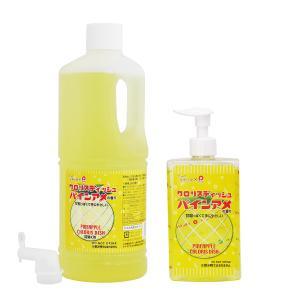 送料無料 手にやさしい 台所洗剤 クロリスディッシュ パインアメ の 香り 300ml+詰替え用1000mlセット mamano