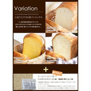 初めてのパン作り ホームベーカリー 1斤用 使い切り 食パンミックスお試しセット(基本・ブリオッシュ・ミルク)【ゆうパケット/送料無料】|mamapan|04