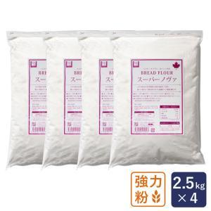 まとめ割 強力粉 スーパーノヴァ(1CW) 2.5kg×4 パン用小麦粉 江別製粉 チャック袋