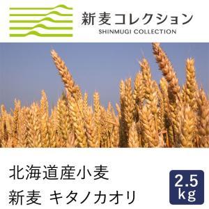 強力粉 新麦コレクション 新麦 キタノカオリ 2.5kg 北海道産パン用小麦粉 季節限定 new