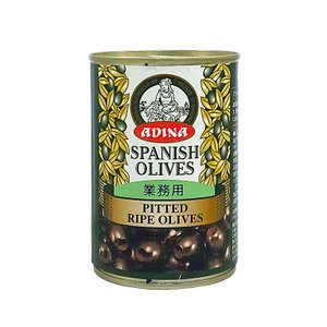 オリーブ ピテット ライプオリーブ ブラックオリーブ 種抜き アディーナ 390g|mamapan