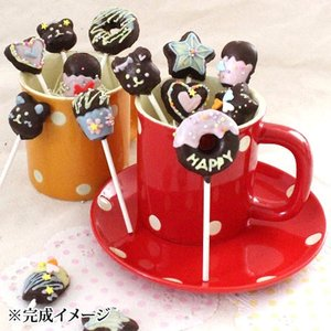 バレンタイン デコってかわいいロリーポップクランチ 私の台所 1セット 手作りキット チョコレート 季節限定|mamapan|03