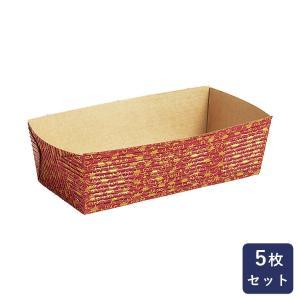 紙型 パウンド紙型CT206-赤リーフ 小 5枚入り|mamapan