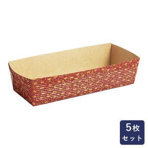 紙型 パウンド紙型CT207-赤リーフ 大 5枚入り|mamapan