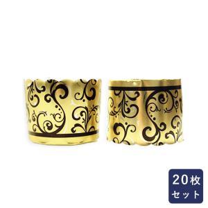 紙型 マフィンカップ アラベスクゴールド 20枚入り|mamapan