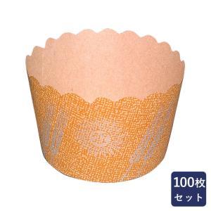 紙型 マフィンカップ NP-4太陽と麦 大 100枚入り|mamapan