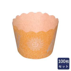 紙型 マフィンカップ NP-6太陽と麦 小 100枚入り|mamapan