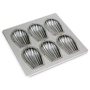 型 シリコン加工 貝マドレーヌ天板 6個用 MS お菓子型 シェル型