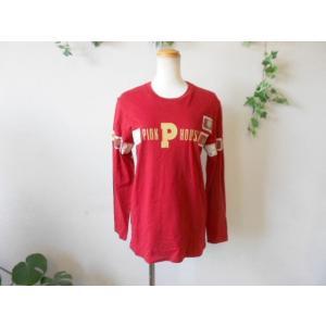 ピンクハウス PINKHOUSE ロゴプリント&ワッペン付 Tシャツ