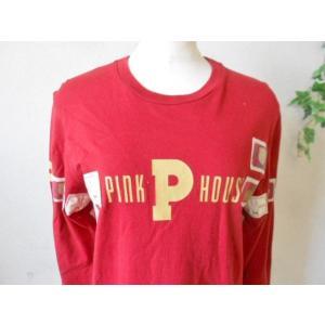 ピンクハウス PINKHOUSE ロゴプリント&ワッペン付 Tシャツ|mamapocket4976|02