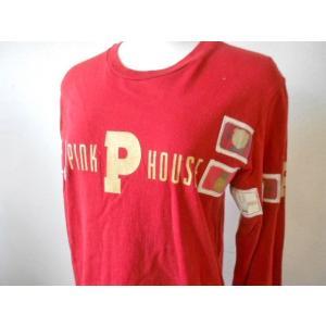 ピンクハウス PINKHOUSE ロゴプリント&ワッペン付 Tシャツ|mamapocket4976|03