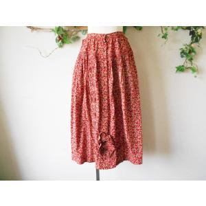 ピンクハウス PINKHOUSE ピンタック あり 小花 プリント の 可愛い スカート