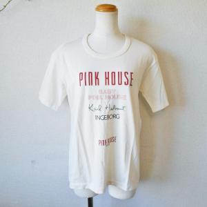 美品 ピンクハウス PINKHOUSE ロゴ プリント入 Tシャツ M 日本製