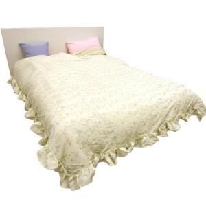 ■商品ポイント! いつものベッドにふわっとベッドカバーをかけるだけで、ロマンチックに早変わり。  薄...