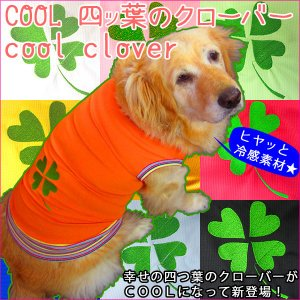 犬服 ドッグウェア 3.5Lサイズ(超大型犬) DOGタンクトップ COOL!!クローバーl♪ ポイント10倍 レターパック送料無料(代金引換別途送料600円〜)|mamav