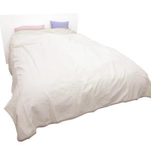 日本製!ベッドカバー ベッドスプレッド・ダブル コットン100% ホワイト 【送料無料(北海道・沖縄除)】|mamav