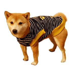 犬服 ドッグウェア Lサイズ(中型犬) DOGタンクトップ 黒ボーダー♪ ポイント10倍 メール便送料無料(代金引換別途送料600円〜)|mamav