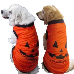犬服 ハロウィンタンクトップ 2Lサイズ(大型犬)DOGタンクトップ かぼちゃ柄 ハロウィンかぼちゃ メール便送料無料(代引不可)|mamav