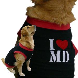 犬服 犬 タンクトップ 2Lサイズ(大型犬) DOGタンクトップ I LOVE My Dog アイラブマイドッグ メール便送料無料(代引き不可) mamav
