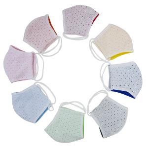 布マスク おしゃれ 日本製 カットワーク刺繍×COOL サラッと生地 洗えるマスク mamavオリジナル ゆうパケット送料無料(代引不可)|mamav
