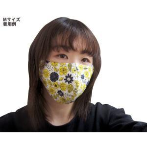 ファッションマスク ガーゼマスク フルカバーマスク 日本製 花鳥イエロー 洗えるマスク デザインマスク mamavオリジナル メール便送料無料(代引不可)|mamav|03