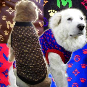 犬服 ドッグウェア タンクトップ Lサイズ(中型犬) DOGタンクトップ オリジナルプリント メール便送料無料(代引き不可)|mamav