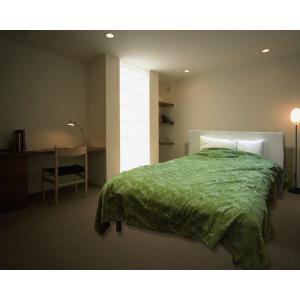 日本製!ベッドカバー ベッドスプレッド・シングル グリーンリラ ポリエステル100% レターパック送料無料(代引き不可)|mamav