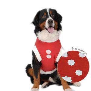 犬服 ドッグウェア サンタ クリスマス 4Lサイズ(超大型犬)DOGタンクトップ クリスマスサンタ服!レターパックで送料無料(代引き不可)|mamav