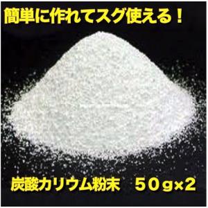 【水草・栄養剤】炭酸カリウム粉末 50g 2個 |mame-store