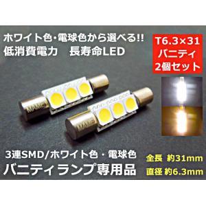 バニティランプ LED T6.3×30「ホワイト/白」|mameden