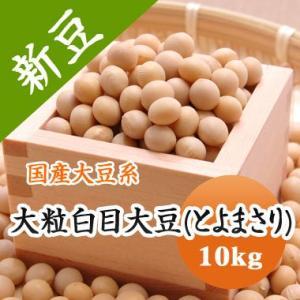 豆 大豆 大粒白目大豆 とよまさり 北海道産 送料無料 味噌 令和1年産 10kg 業務用