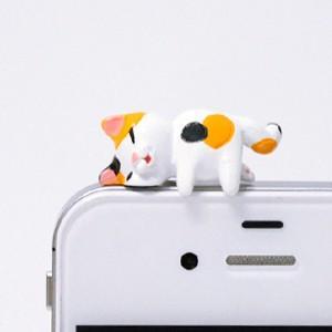 ミケ猫 ほっぺぷにイヤホンジャック|mamekou-boo