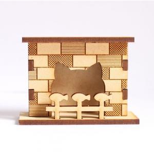 ミニチュアもふもふ猫空間 暖炉(にゃんろ) 完成品|mamekou-boo