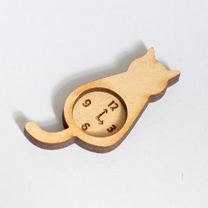 ミニチュアもふもふ猫空間 掛け時計 おすわり 完成品 MM-22|mamekou-boo