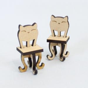 ミニチュアもふもふ猫空間 ねこあしイス(二脚) キット MM-29|mamekou-boo