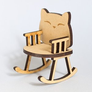 ミニチュアもふもふ猫空間 ゆりイス 完成品 MM-30|mamekou-boo