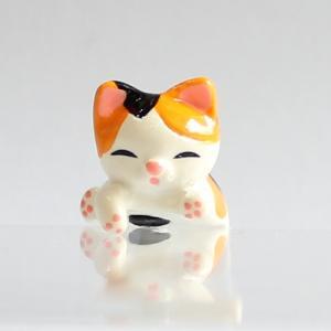 ミニチュアもふもふ猫空間 猫乗っかり ミケ MM-53|mamekou-boo
