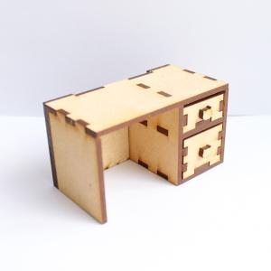 12分の1スケール 引き出しが開く!机 完成品 ドールハウス|mamekou-boo